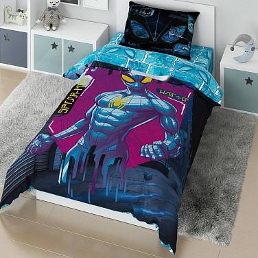 Детский комплект постельного белья «Marvel» (арт.20060+8388/1, 1,5-спальный, поплин, 1 наволочка 50х70)