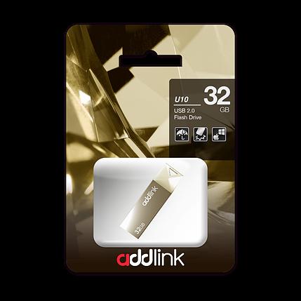 USB Флеш Накопитель Addlink 32GB 2.0 ad32GBU10C2 шампань, фото 2