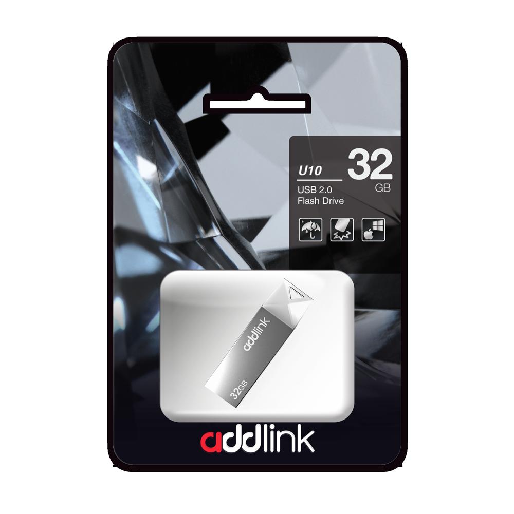 USB Флеш Накопитель Addlink 32GB 2.0 ad32GBU10G2 серый