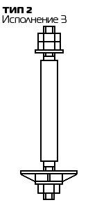 Болт фундаментный с анкерной плитой Тип 2, Исп 3. ГОСТ 24379.1 80