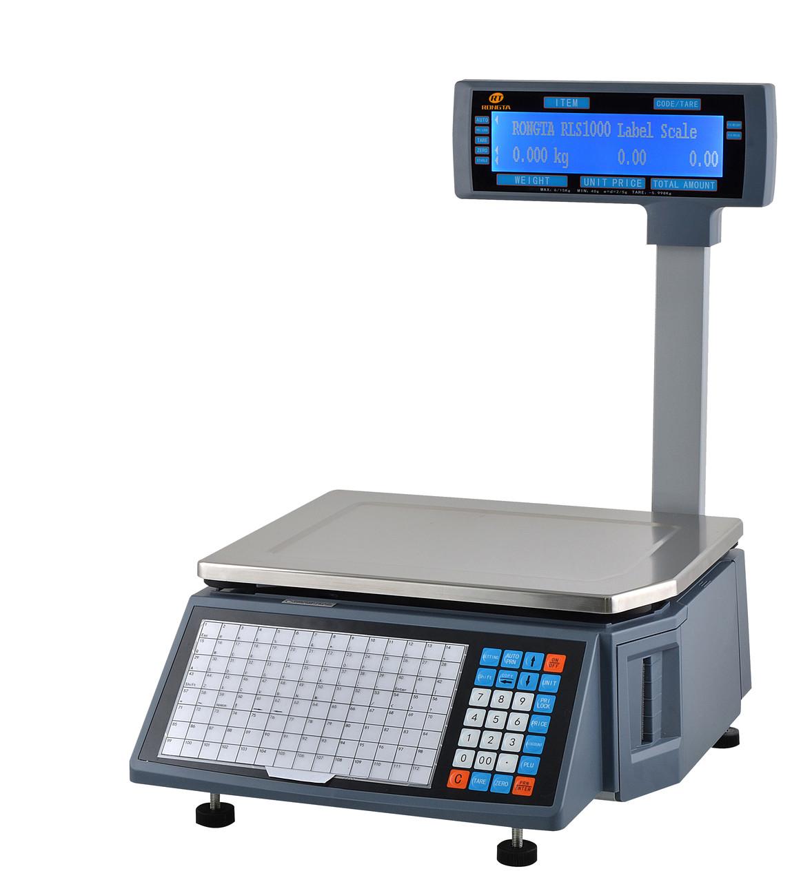 Торговые весы электронные с печатью этикеток RONGTA RLS1100 купить в Алматы