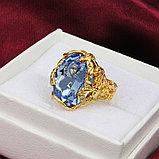 """Кольцо-перстень """"Голубой топаз"""", фото 4"""