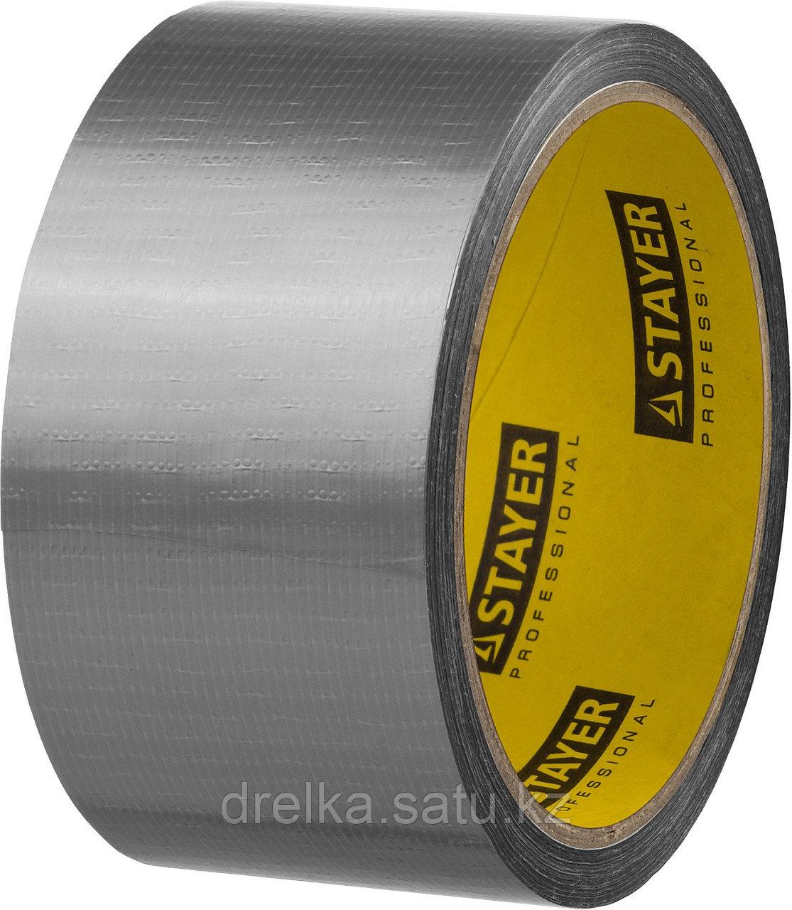 Армированная лента, STAYER 12080-50-10, универсальная, влагостойкая, 48мм х 10м, серебристая
