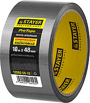 Армированная лента, STAYER 12080-50-10, универсальная, влагостойкая, 48мм х 10м, серебристая, фото 2