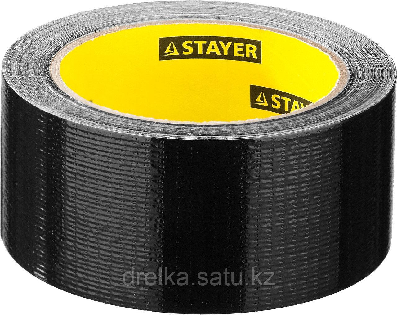 Армированная лента, STAYER Professional 12086-50-25, универсальная, влагостойкая, 48мм х 25м, черная