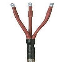 Концевые муфты для 3-жильных кабелей с бумажной изоляцией (типа MI и MIND) и  общей алюминиевой или свинцовой оболочкой напряжением 6 и 10 кВ. Raychem