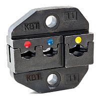 Номерные матрицы для опрессовки изолированных разъемов с красной, синей и желтой манжетами - МПК-11 КВТ МПК-11