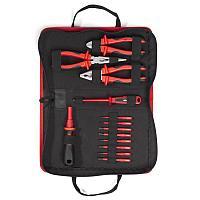 Профессиональный набор диэлектрического инструмента электрика, 13 предметов, серия «СЛИМ» НИО-3312 КВТ НИО-3312