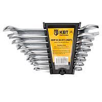 Набор гаечных рожковых ключей серии KBT-PROFESSIONAL, 8 шт. КВТ НКР-8 (8-27)