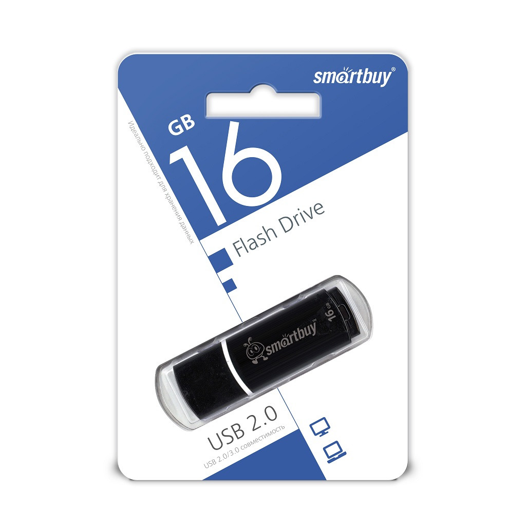 USB Флеш Накопитель UFD 2.0 Smartbuy 16GB Crown Black