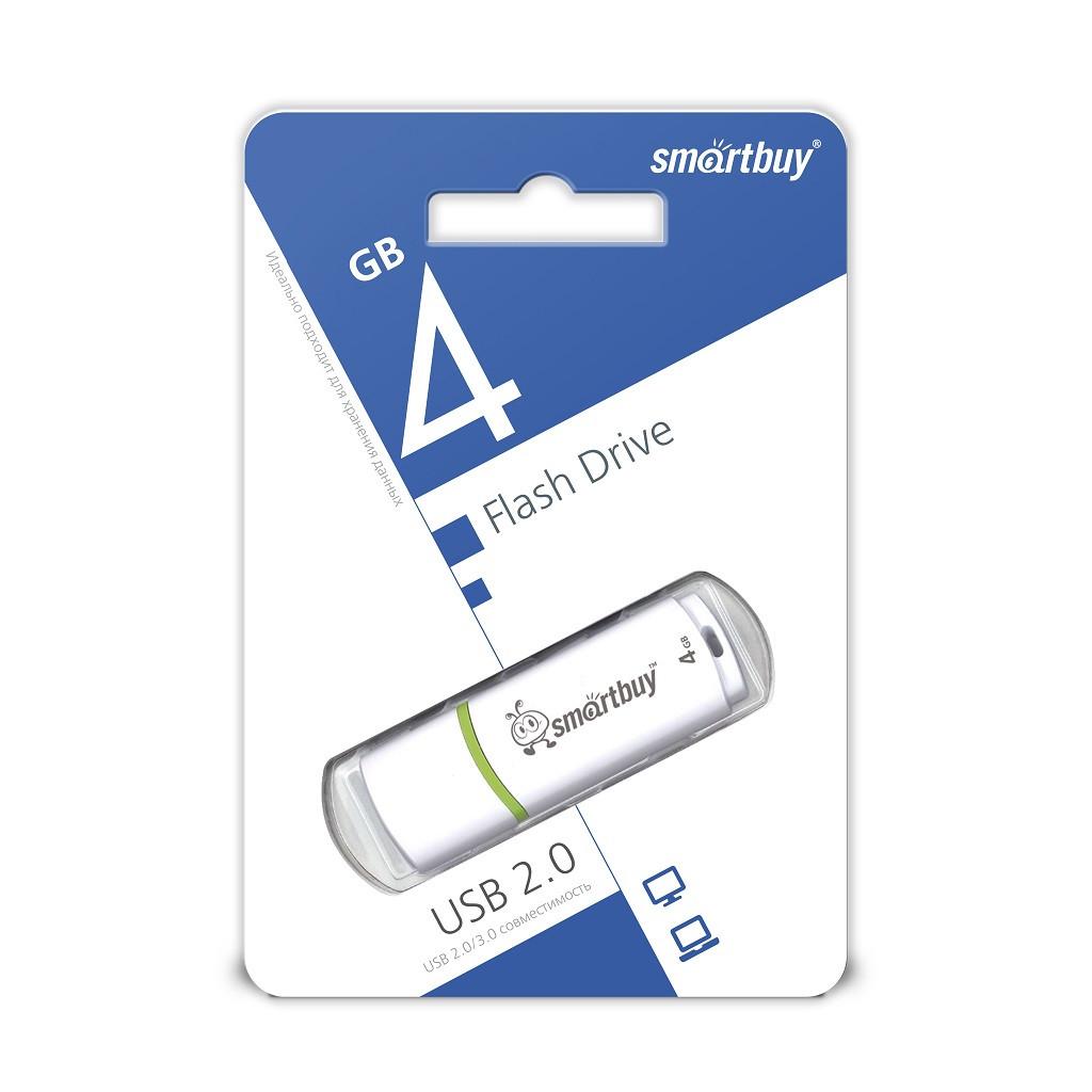 USB Флеш Накопитель UFD 2.0 Smartbuy 4GB Crown White