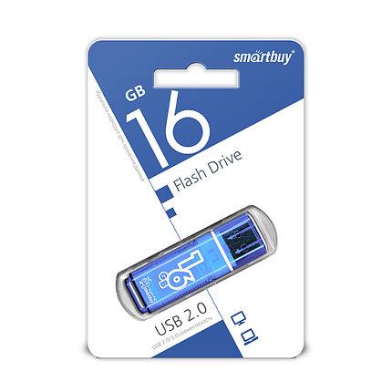 USB Флеш Накопитель UFD 2.0 Smartbuy 16GB Glossy Series Blue, фото 2