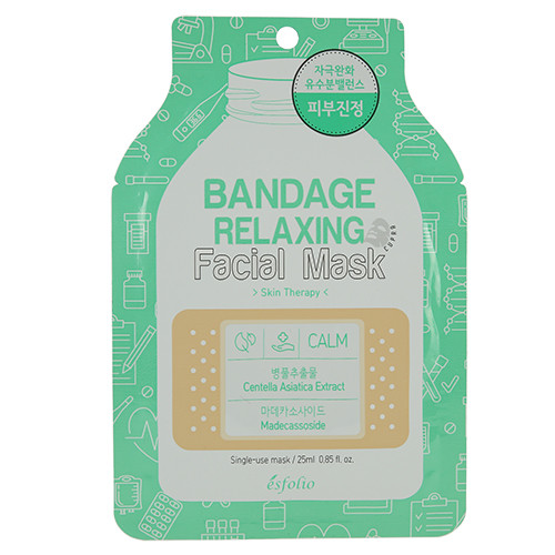 Маска тканевая Bandage Relaxing Facial Mask 25ml* (Esfolio)  Успокаивающая
