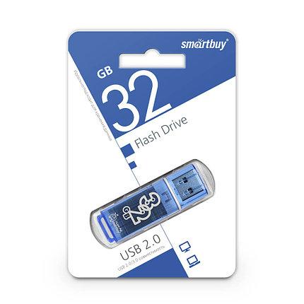 USB Флеш Накопитель UFD 2.0 Smartbuy 32GB Glossy Series Blue, фото 2