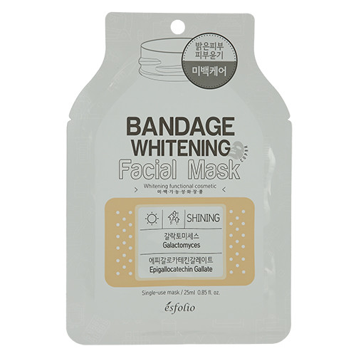 Маска тканевая Bandage Whitening Facial Mask 25ml* (Esfolio)  Отбеливающая