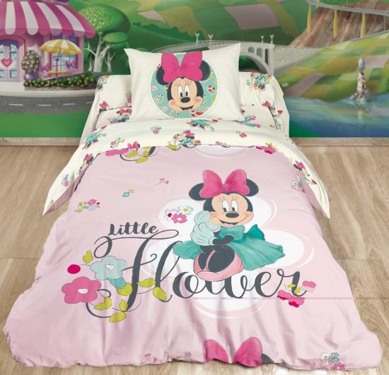 Детский комплект постельного белья «Minnie» (1,5-спальный, ранфорс, 1 наволочка 50х70)1551 144/1+145/1+146/1