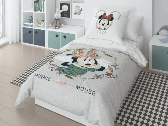 Детский комплект постельного белья «Minnie» (1,5-спальный, ранфорс, 1 наволочка 50х70) 20027+8359