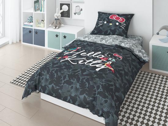Детский комплект постельного белья «Hello Kitty» (арт.20024+8370/1 01, 1,5-спальный, поплин, 1 наволочка 70х70