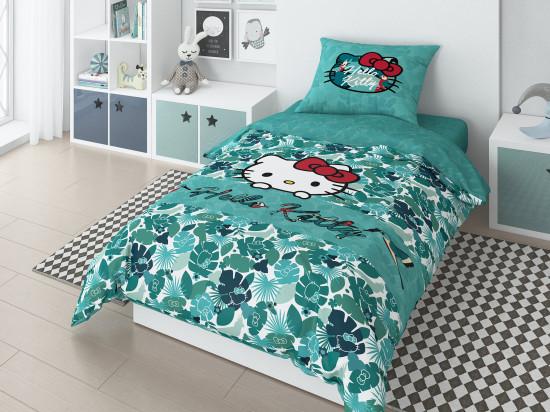 Детский комплект постельного белья «Hello Kitty» (арт.20026+8370/3 01, 1,5-спальный, поплин, 1 наволочка 70х70