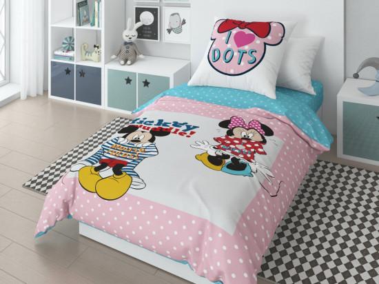 Детский комплект постельного белья «Minnie» (арт.20023+8368/2 01, 1,5-спальный, поплин, 1 наволочка 70х70)