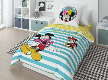 Детский комплект постельного белья «Minnie» (арт. 20022+8368/1 01, 1,5-спальный, поплин, 1 наволочка 70х70)