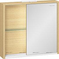Шкаф зеркальный Уника 80 EDELFORM, белый с дуб гальяно, фото 1