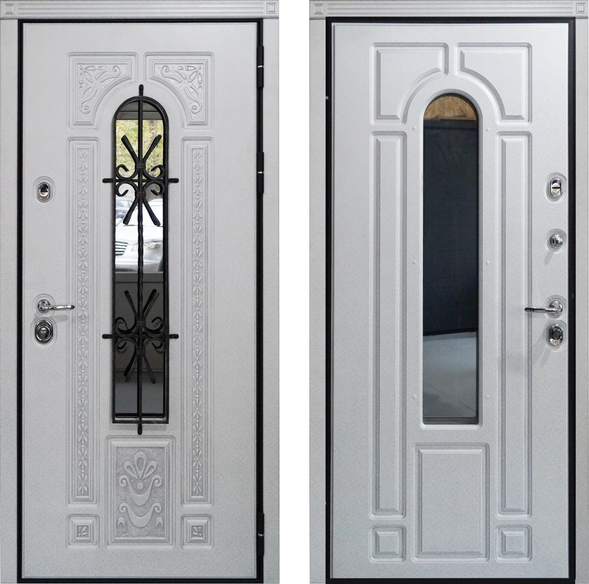 Металлическая дверь NAPOLI ARGENTO