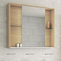 Шкаф зеркальный Уника 100 EDELFORM, белый с дуб гальяно