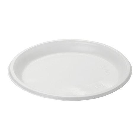 Тарелка десертн., d 167мм, бел., ПС, 100 шт, фото 2