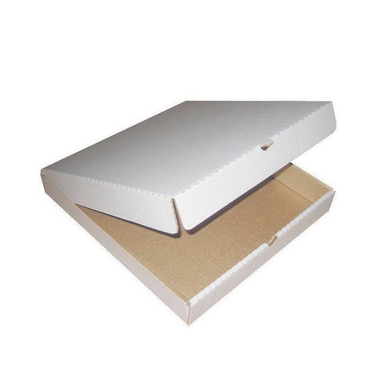 Коробка д/пиццы, 420х420х40мм, бел., микрогофрокартон E, 50 шт