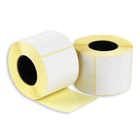 Весовая лента  58х40мм, ЭКО белая термо бумага, (непринт), фото 2