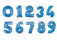 Воздушные шары цифры синие 81 сантиметр, от 0 до 9