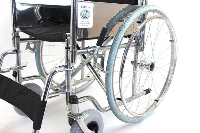 Инвалидная коляска с полиуретановыми колесами модель fs901-46 (4601), фото 2