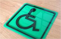 Знак доступности всех категорий инвалидов, основание Акрил, 150*150