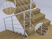 Перила для лестниц из нержавеющей стали (4 ригеля)