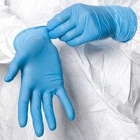 Перчатки нитриловые синие, черные. Все размеры.