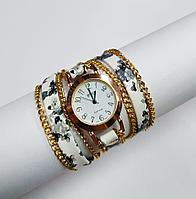 """Часы-браслет """"Цветочный"""" белые"""