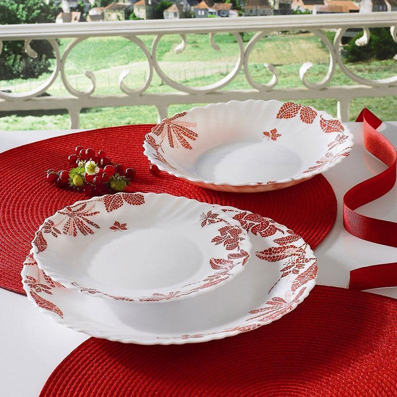 Столовый сервиз Luminarc Romancia Red 19 предметов на 6 персон