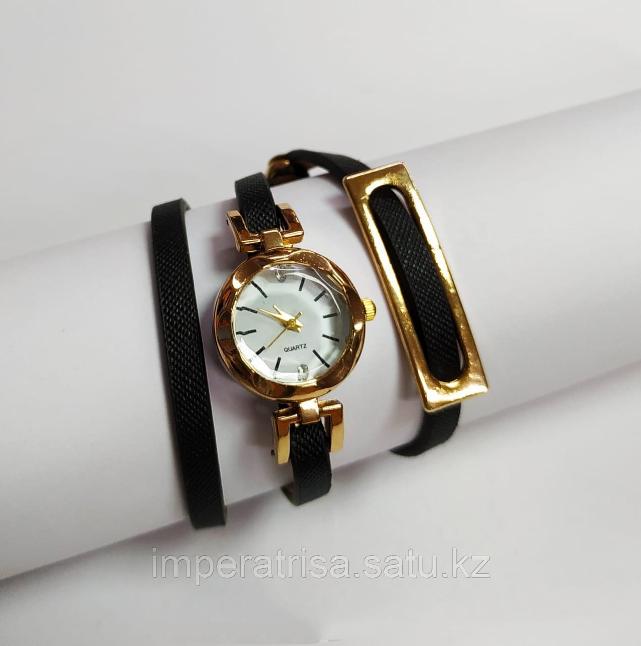 """Часы-браслет """"Жаклин"""" черные"""