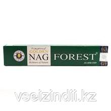 Натуральные благовония, заводские, Лес, Наг Форест, Golden Nag, Forest, 15 гр