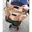 Органайзер сумка  на коляску капучино, фото 4