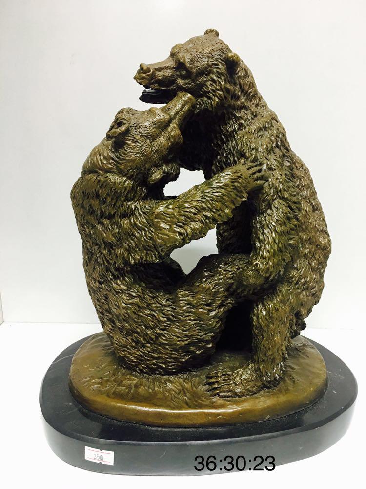 "Бронзовая статуэтка ""Медведи"" - фото 1"