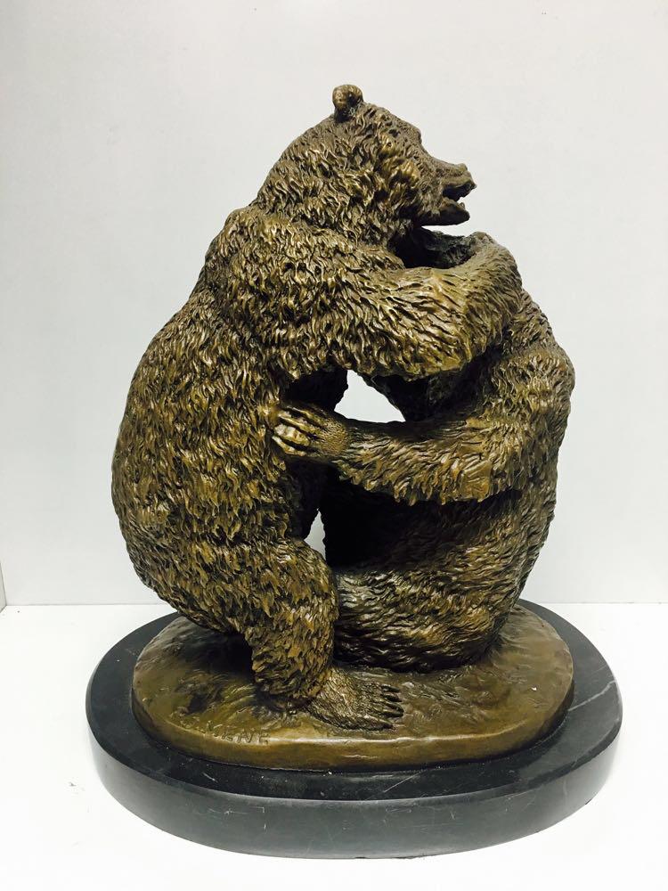 "Бронзовая статуэтка ""Медведи"" - фото 2"