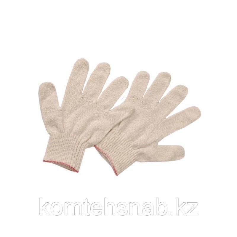 Перчатки х/б повышенной прочности без ПВХ 4 нити