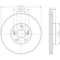 Тормозные диски Honda Civic (01-05., передние, D300, Optimal)
