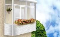 Балконы из металлопластика