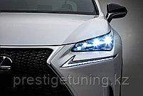Передние оригинальные фары на Lexus NX 2014-15