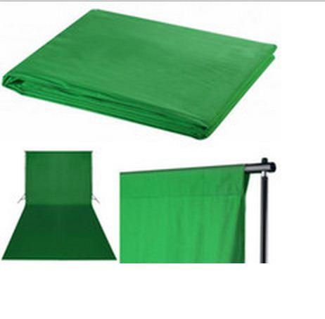 Студийный тканевый фон 3×3 м зелёный