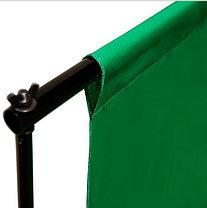 Студийный тканевый фон 3×3 м зелёный, фото 2