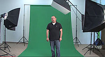 Студийный тканевый фон 3×3 м зелёный, фото 3